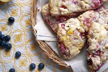 raspberry scones with lemon glaze | sweet breads & pastries | Pintere ...