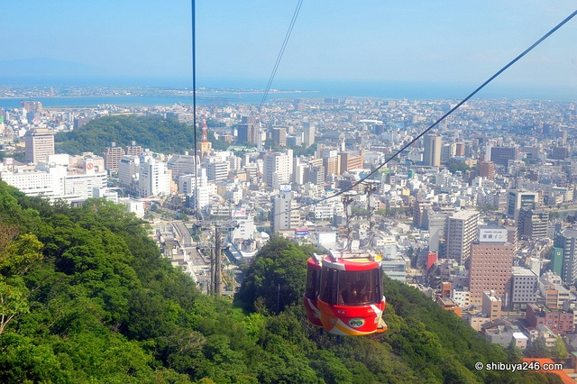 Tokushima Japan  City pictures : 眉山ロープウェイ(徳島) Bizan Ropeway, Tokushima, Japan