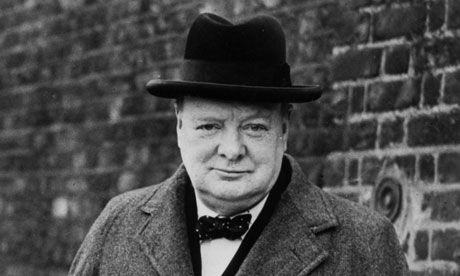 Prime Minister Winston Churchill--Gr. Britain would not have survived WWII without him.  Where's the cigar?  :-)