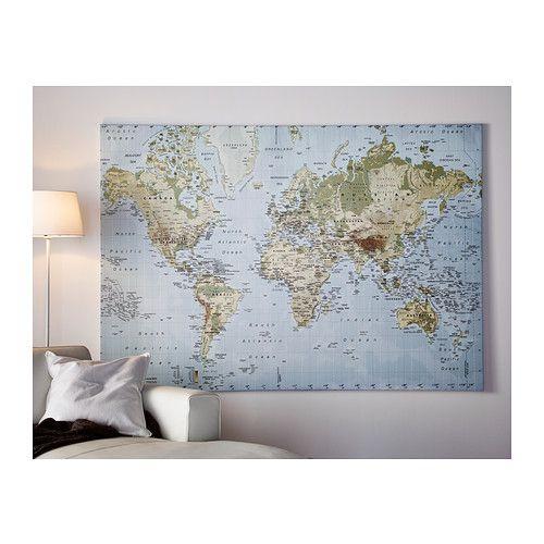 Premi r picture world map for Weltkarte poster ikea