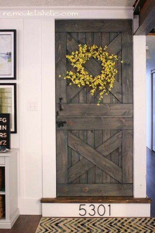 Dutch door entry into bunk room home improvements for Barn style front door