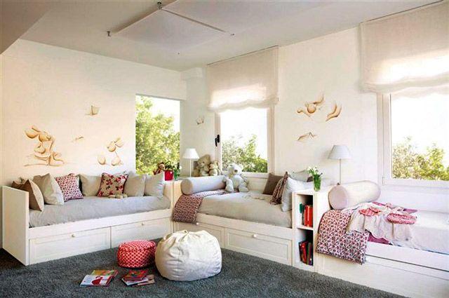 Habitaciones para 3 ni os decoraci n pinterest - Habitaciones decoradas para ninos ...