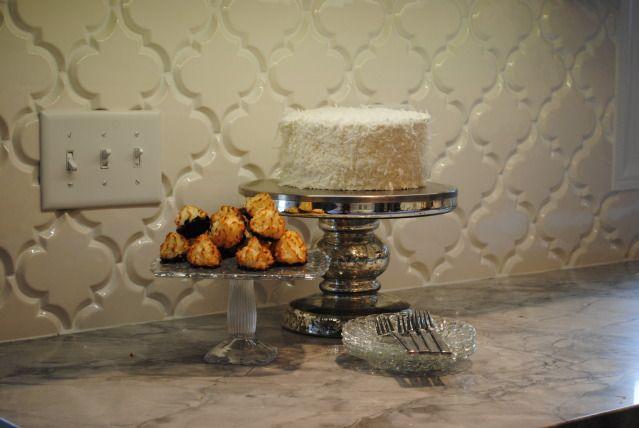 beveled arabesque tile kitchen back splash tile pinterest