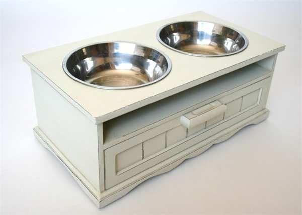 elevated dog bowls with food storage woof bark howl pinterest. Black Bedroom Furniture Sets. Home Design Ideas