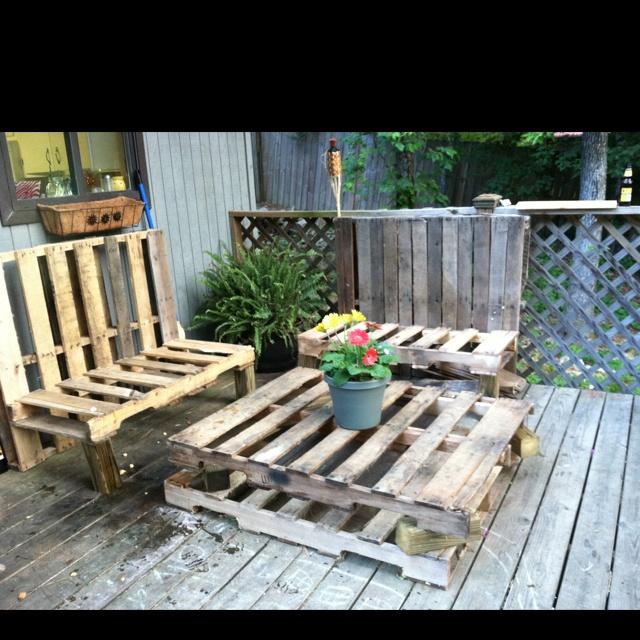 Pallet furniture photo inspiration