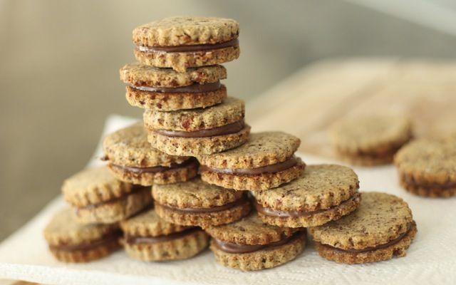 Hazelnut Chocolate Sandwich Cookies by @Allison Abdelnour