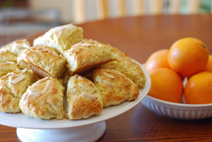 yummy Orange Almond Scone recipe. #edibles