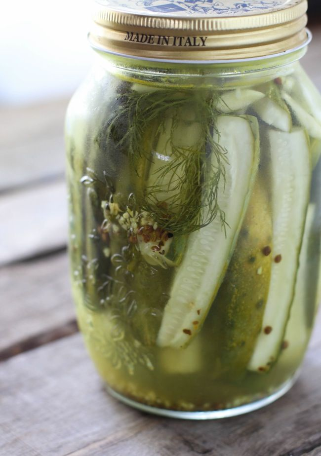 Garlic Dill Pickles - So quick and easy to make and way better than ...