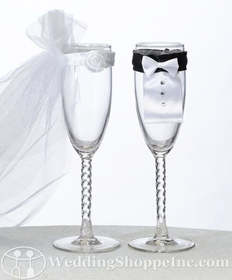 Bride & Groom Wedding Glasses #GabrielCo