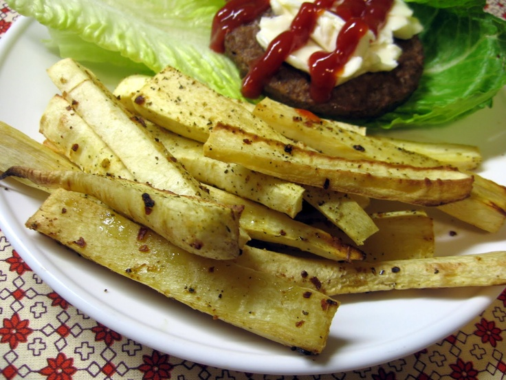 Parsnip Fries | Clean Eats | Pinterest