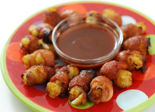 Bacon Wrapped Tator Tots: made these last night.. i'd say they were a ...