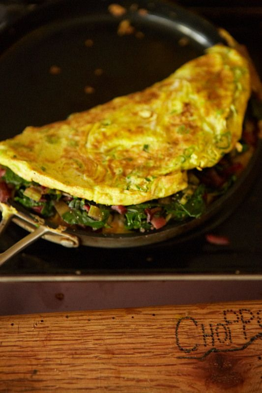Chard and Spring Onion Omelette | Foodie | Pinterest