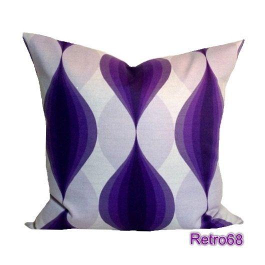 Throw Pillow Decorative Purple Retro , Vintage Fabric & Organic Cotto?