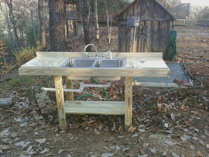 Outdoor sink farming gardening ideas pinterest for Outdoor kitchen sink ideas