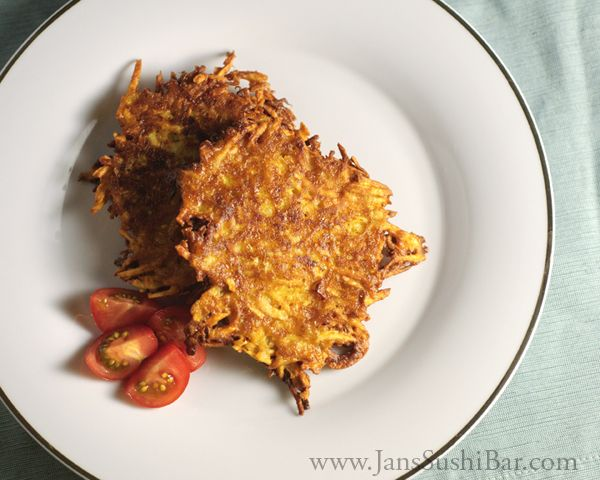 Sweet Potato Latkes - Sweet and spicy, these latkes are a delicious ...