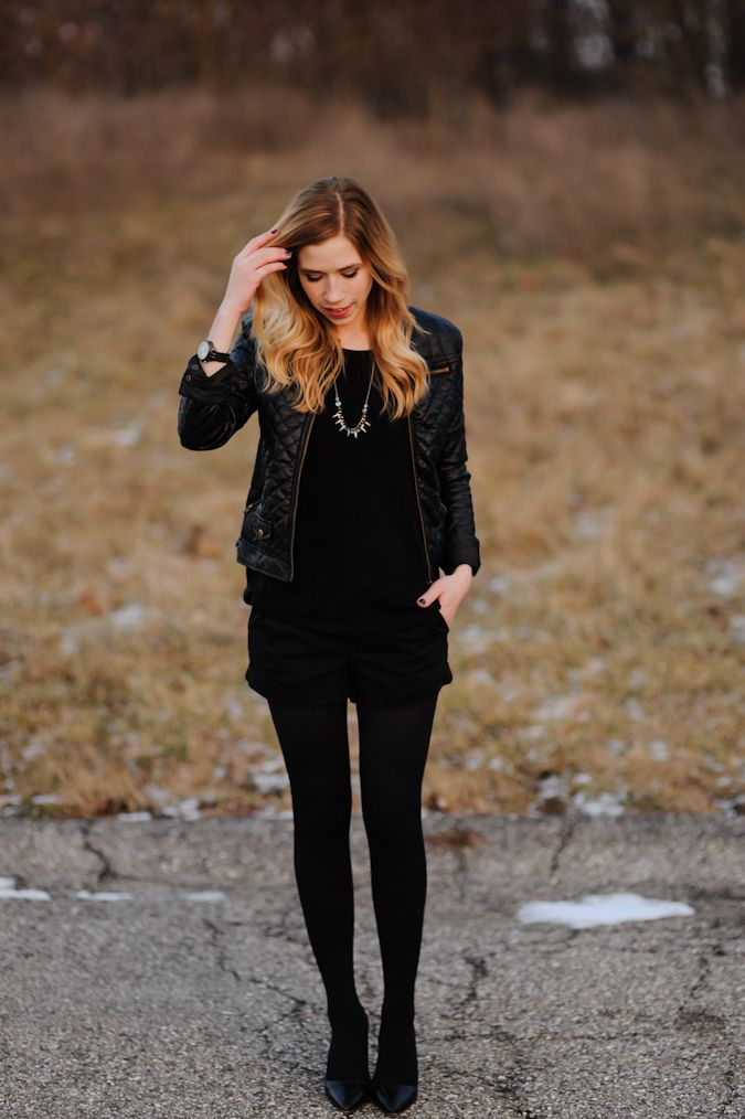 Outfit Ideas with Shorts and Tights