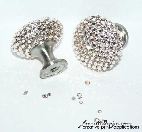 Swarovski crystal dresser knobs swarovski crystals and all that