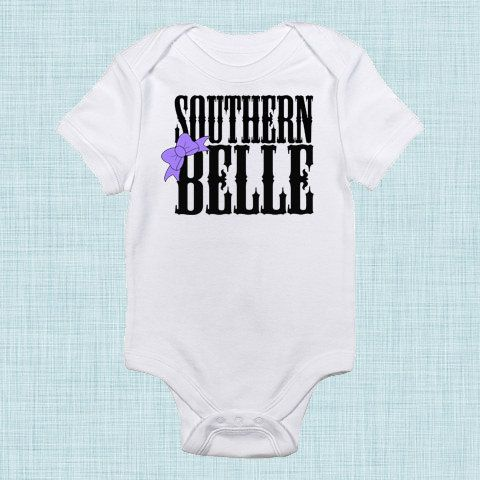 Southern belle country baby girl cute baby clothes bow baby girl