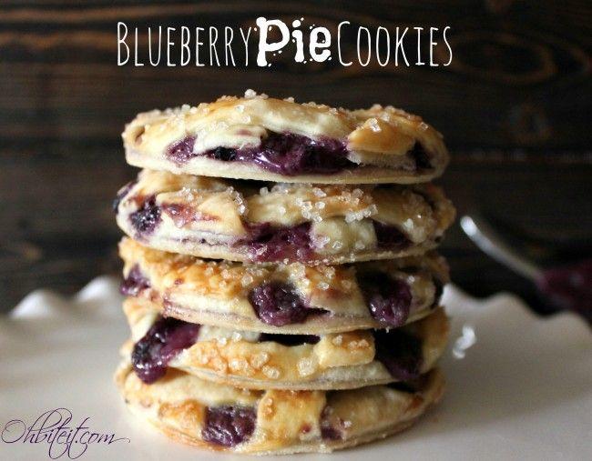 Blueberry Pie Cookies {So cute!}   Cookies   Pinterest
