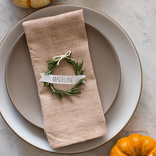 Rosemary Wreath placecards