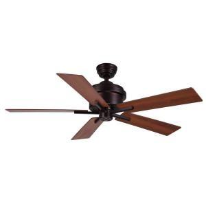 Hampton Bay Bryant 46 in. Oiled Rubbed Bronze Ceiling Fan $99