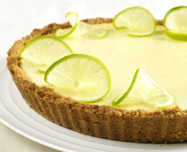 Key Lime Pie. Regular Limes work too. My daughter would love this pie.