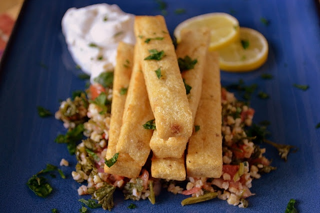 chickpea fries with yoghurt tahini sauce | Recipes Healthy Recipes ...