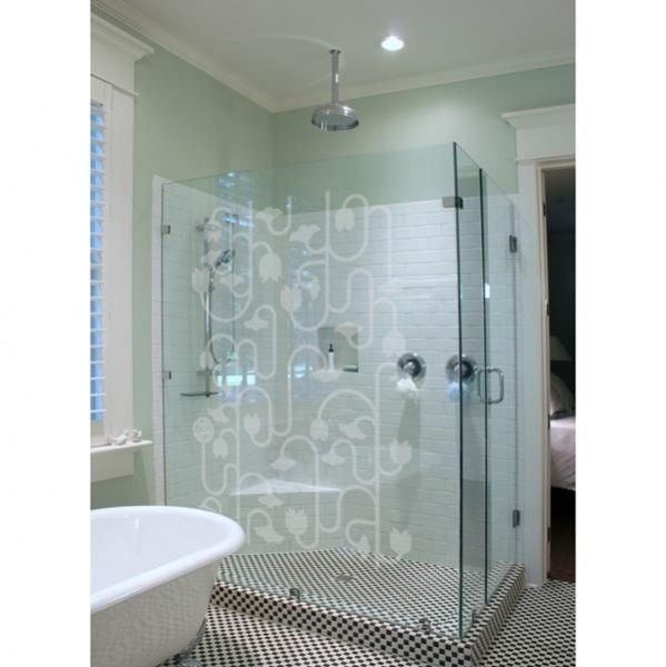 The Climbing Plant Frosted Glass Decals Frosted Glass