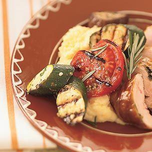 Crispy Polenta with Grilled Vegetables - Williams Sonoma