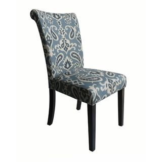 Monsoon voyage upholstered blue dining chairs set of 2 for Printed upholstered dining chairs