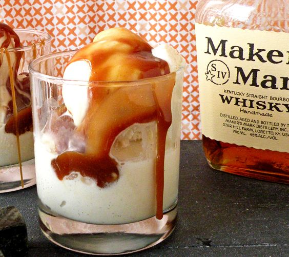 ice cream inspired by an Old Fashioned, covered in a bourbon caramel ...
