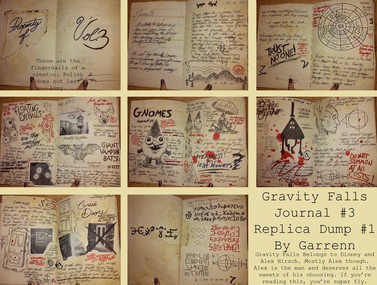 Гравити фолз как сделать дневник своими руками