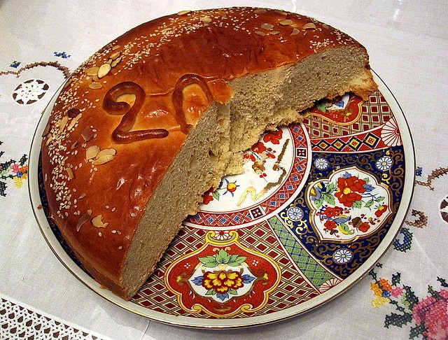 Vasilopita (Greek Epiphany Cake) | Epiphany | Pinterest