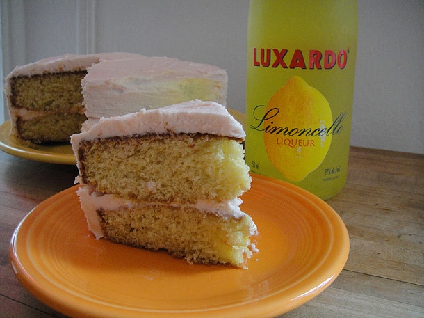 ... Boozy Dessert Recipes We Love | Lemon Layer Cake with Campari Frosting
