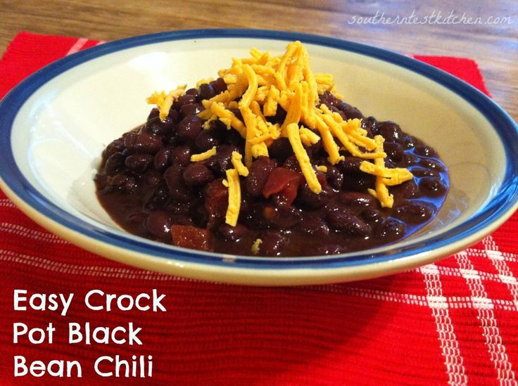 Easy Crock Pot Black Bean Chili | Food food | Pinterest
