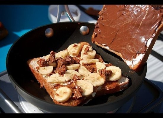 Nutella, Heath, Bananas, Marscorpone, and Marshmallow Fluff Grilled ...