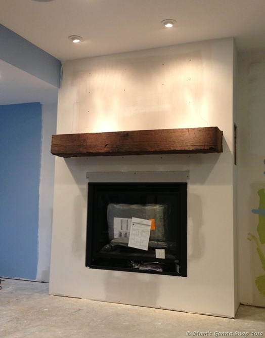 2012 12 08 Mantel Fireplace Wall In Sun Room Pinterest