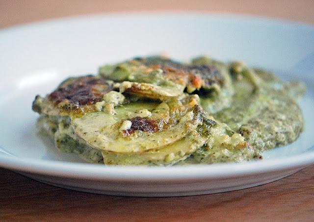 Potato Gratin with Kale Pesto | Mehan's Kitchen> I made this with ...