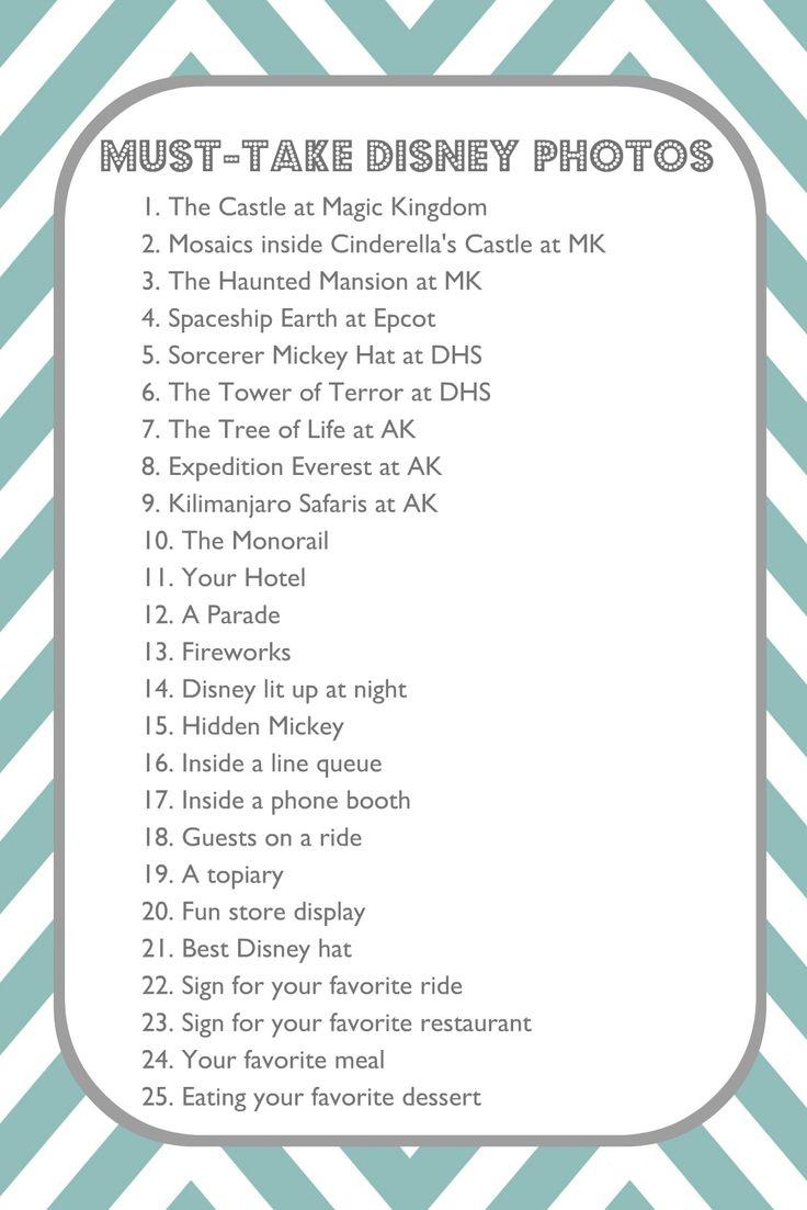 Must take Disney photos