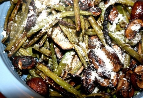 Roasted Mushroom Green Beans | Sides and Salads | Pinterest