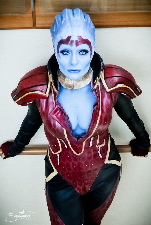 Mass effect asari cosplay
