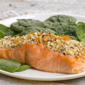Hazelnut crusted Salmon | What's for dinner? | Pinterest