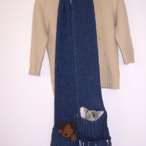 Knitting Pattern Scarf With Pockets : Knitted Scarf With Pockets ?25.00 Lovely knitting and ...