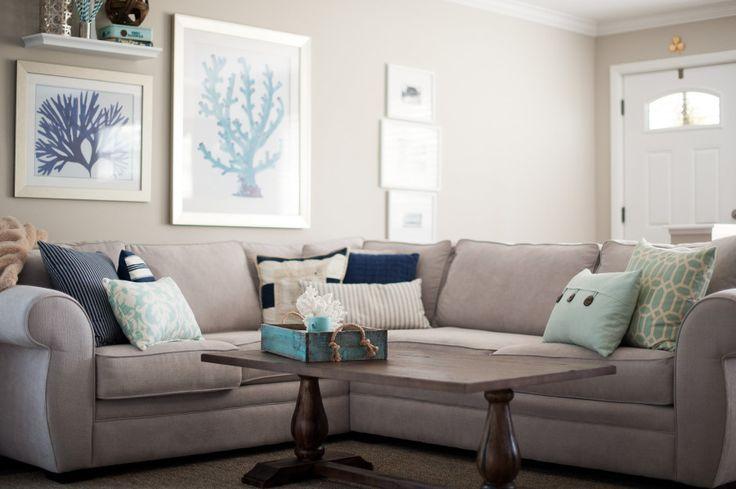 Living Room Gray And Blue Home Living Room Pinterest