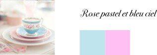 couleurs mariage bleu ciel rose pastel  Deco  Pinterest