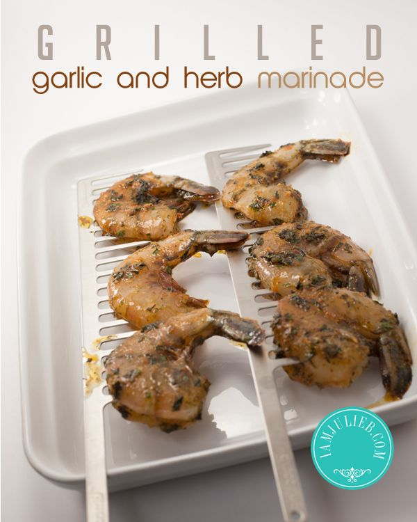 Grilled Garlic and Herb Shrimp #paleo #primal #cleaneating