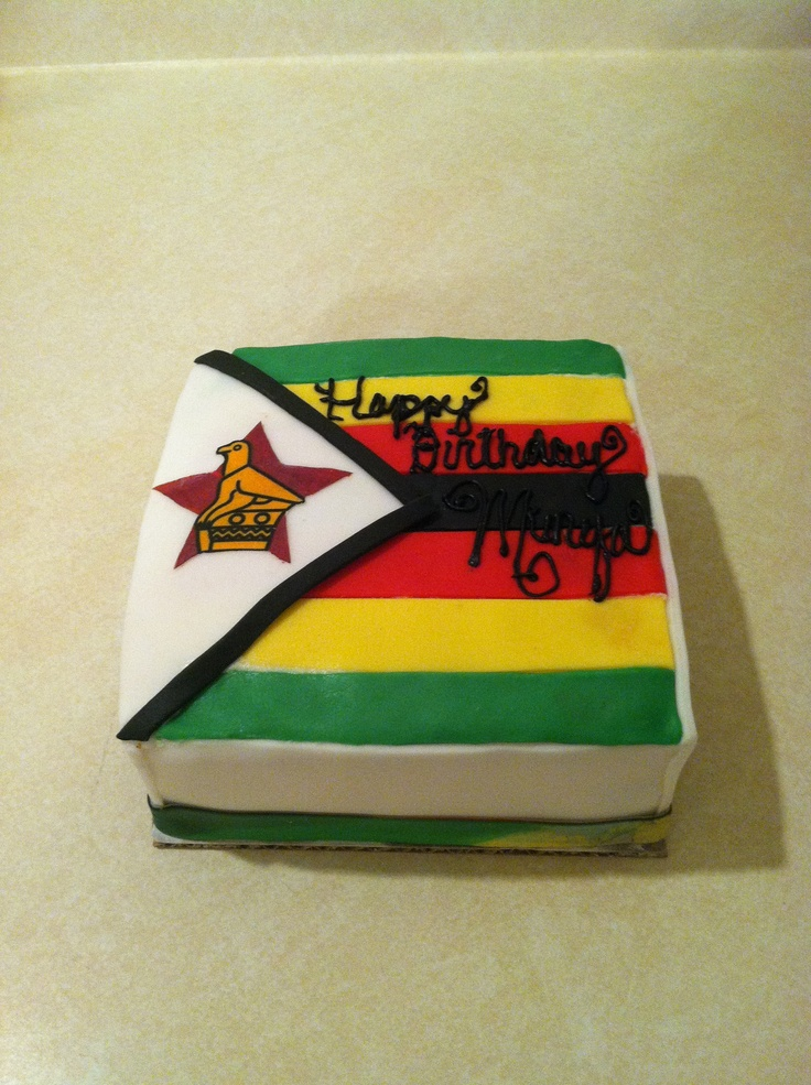 Pin Zimbabwe Flag Map Cake on Pinterest