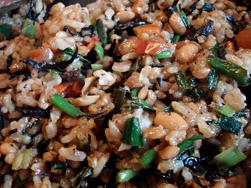 Natto Fried Rice - supposed to get rid of that sticky texture, so I ...