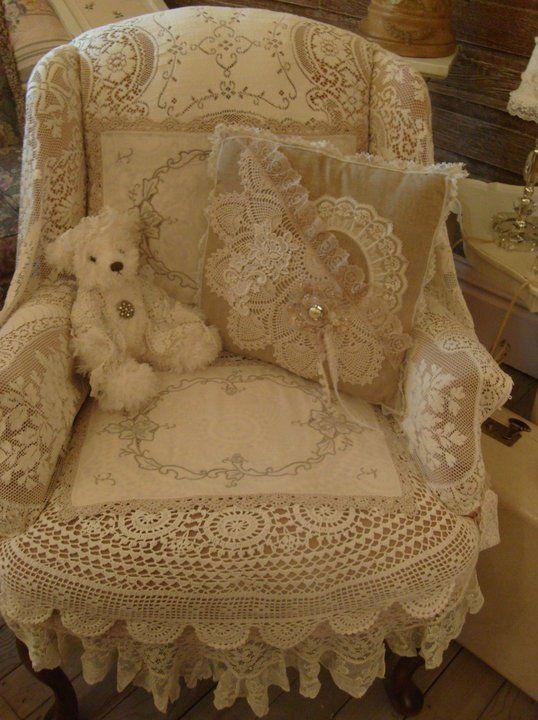 bear in chair