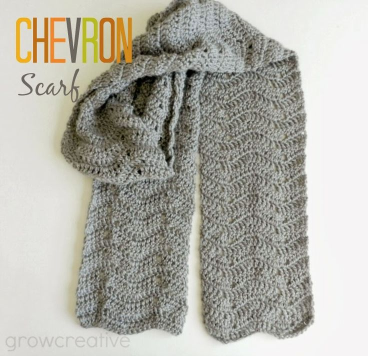 free crochet pattern chevron scarf Knitting & Crochet Pinterest